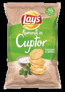 Chipsuri cu gust de iaurt si plante aromatice Lays 125g