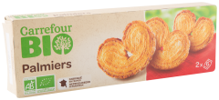 Biscuiti palmier ecologici Carrefour Bio 100g