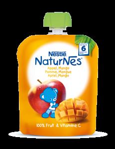 Piure cu mar si mango Nestlé® NaturNes 90g