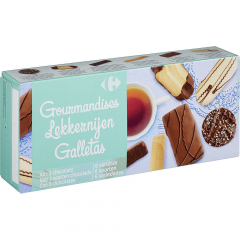 Biscuiti asortati cu ciocolata Carrefour 200g