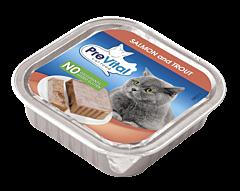 Hrana de pisica in alucup cu somon si pastrav Prevital 100g