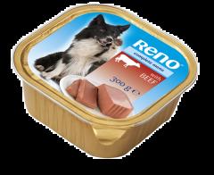 Hrana umeda cu vita pentru caini Reno 300g