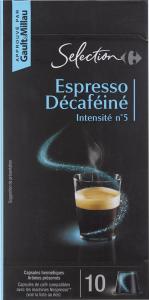 Capsule cu cafea decofeinizata Carrefour 52g