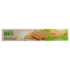 Biscuiti cu grau si susan Carrefour Bio 170g