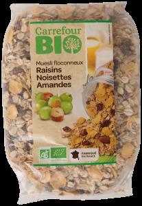 Musli cu stafide si nuci Carrefour Bio 500g