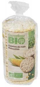 Rondele din porumb Carrefour Bio 115g