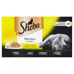 Hrana umeda cu carne de pasare in sos pentru pisici adulte Sheba Selection 85g