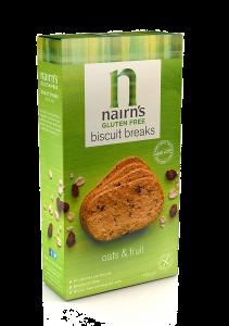 Biscuiti fara gluten din ovaz integral cu fructe Nairn's 160g