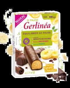 Batoane proteice cu ciocolata si crema de banane Gerlinea 372g