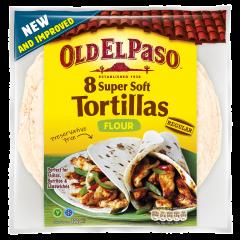 Tortilla din faina de grau Old El Paso 350g