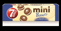 Mini biscuiti cu crema de vanilie 7Days 100g
