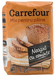 Mix pentru paine neagra Carrefour 500g