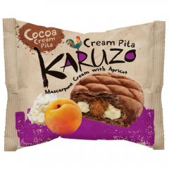 Placinta din aluat cu cacao cu umplutura de mascarpone si caise Karuzo 62g