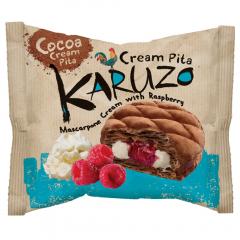 Placinta din aluat cu cacao cu umplutura de mascarpone si zmeura Karuzo 62g
