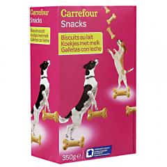 Biscuiti cu lapte caini adulti Carrefour 350g
