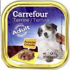 Pate cu pui pentru caini adulti Carrefour 300g
