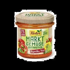 Pasta tartinabila vegetala Bio fara gluten cu ardei in trei culori Tartex 135g