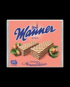 Napolitane umplute cu crema de alune Manner 75g