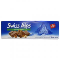 Ciocolata cu lapte si alune Swiss Alps 300g