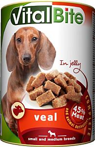 Hrana umeda cu vita pentru caini VitalBite 415g