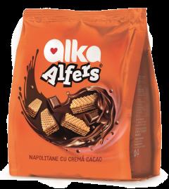 Napolitane cu crema cacao Alfers 180g
