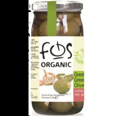 Masline verzi cu usturoi Fos Bio 350g