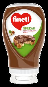 Crema tartinabila  cu cacao, alune de padure si lapte Fineti 380g