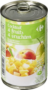 Compot cocktail 4fructe Carrefour 412g