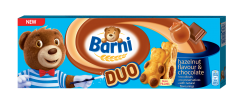 Prajitura cu crema de  ciocolata si alune Barni 150g