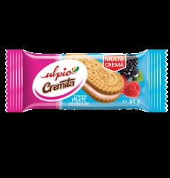 Biscuiti cu crema de fructe de padure Ulpio 34g