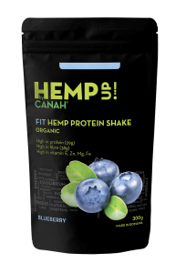Shake proteic organic de canepa si afine HempUp 300g