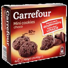 Mini cookies cu ciocolata Carrefour 160g