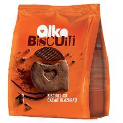 Biscuiti cu glazura de cacao Alka 180g