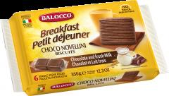 Biscuiti cu lapte si cacao Novellini Balocco 350g