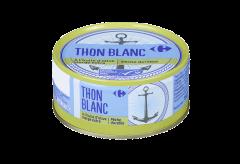 Ton alb intreg in ulei de masline Carrefour 160g