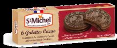 Biscuiti cacao cu umplutura cu crema de cacao Gallettes St. Michel 125g