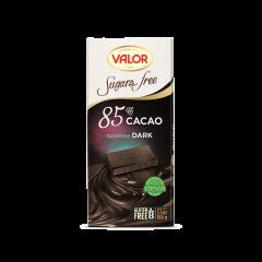 Ciocolata neagra fara zahar cu 85%cacao Valor 100g