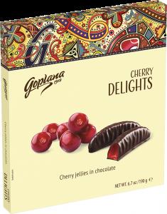 Jeleuri cirese in ciocolata Goplana 190g