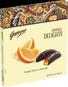 Jeleuri portocale in ciocolata Goplana 190g