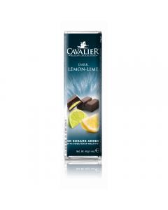 Baton de ciocolata neagra si crema de lamaie Cavalier 40g