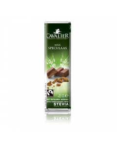 Baton de ciocolata cu lapte si stevia Cavalier 40g