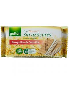 Napolitane fara zahar cu crema de vanilie Gullon 70g
