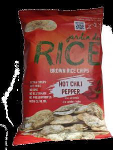 Chipsuri din orez cu aroma ardei iute Jardin du Rice 60g