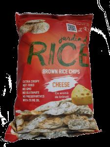 Chipsuri din orez cu aroma de branza Jardin du Rice 50g