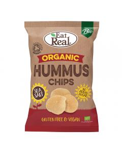 Chipsuri bio de humus cu sare de mare Eat Real 100g