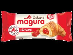 Croissant cu umplutura de crema de capsune Magura 65g