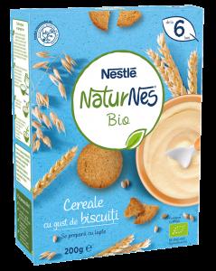 Cereale bio cu gust de biscuiti Nestlé® NaturNes 200g