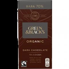 Ciocolata neagra organica cu 70%cacao Green&Black's 90g