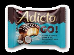Prajitura cu crema si glazura cocos Adicto 45g