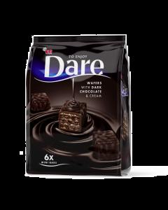 Napolitana cu crema cacao si glazura ciocolata amaruie Dare 112g